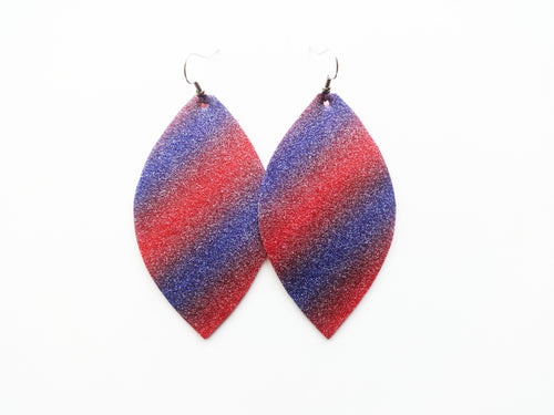 Party In The USA Leaf Vegan Leather Earrings