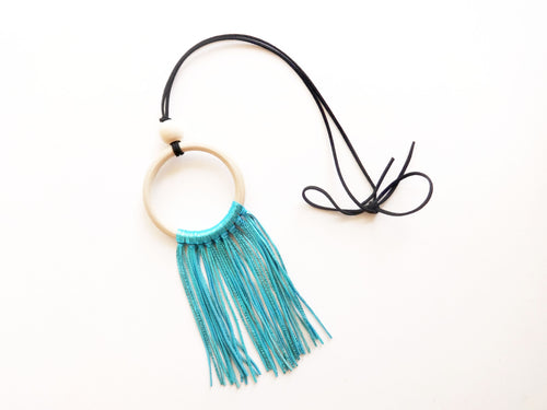 The Vicki Wood Ring Tassel Necklace