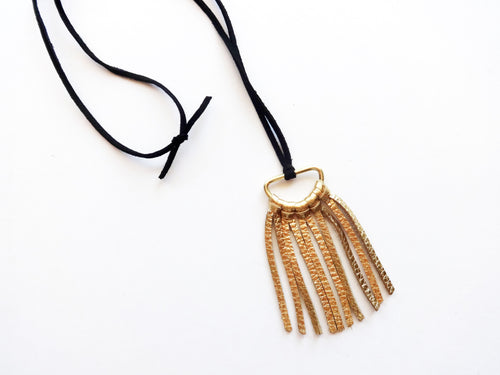 The Noelia Mini Round Tassel Necklace