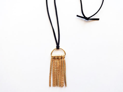 The Astrid Mini Flat Tassel Necklace