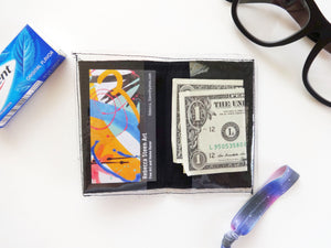 Hand Painted Wallet Business Card Holder
