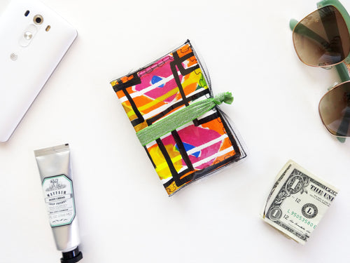 Hand Painted Passport Cover Wallet