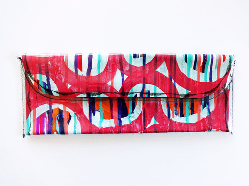 Hand Painted Fashion Clutch Bag