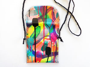 Hand Painted Cross Body Bag