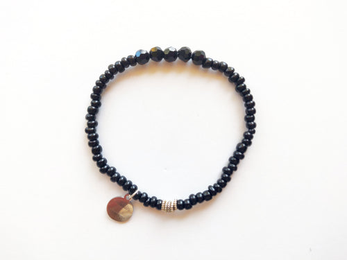 Black Stacker Beaded Bracelet