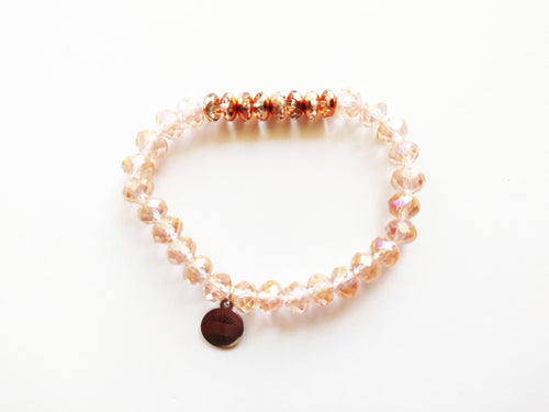 Sparkles Rose Gold Beaded Bracelet
