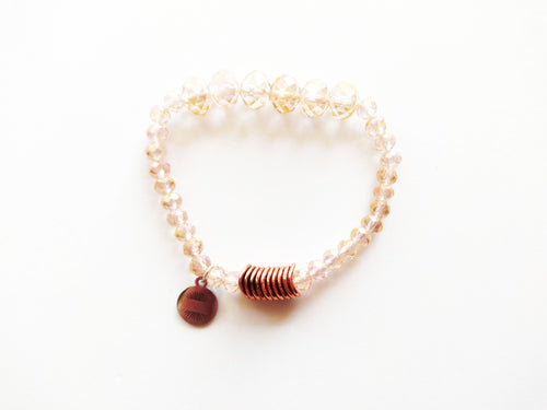 Sparkles Pink and Rose Gold Beaded Bracelet
