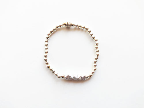 Silver Stacker Beaded Bracelet