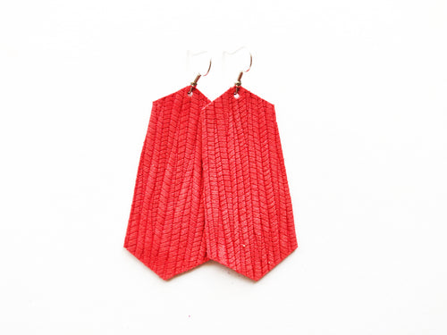 Red Vine Jewel Genuine Leather Earring