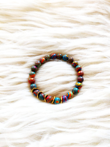 Jawbreaker Rainbow Beaded Bracelet