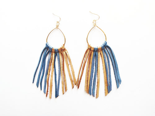 Sand & Sea Fringie Genuine Leather Earrings