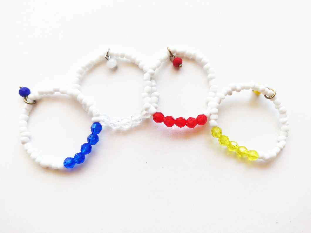White Wine Charm Set 4pc