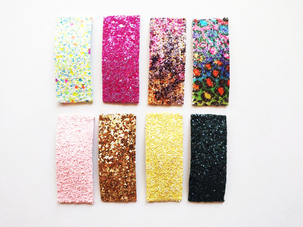 Large Glitter Snap Clips