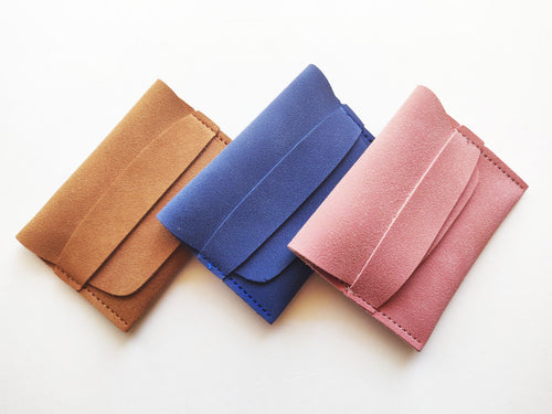 Faux Suede Mini Wallet