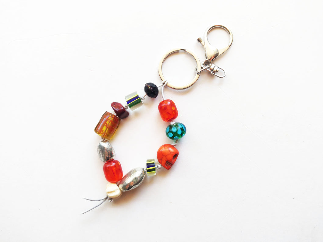 Beaded Wristlet Keychain