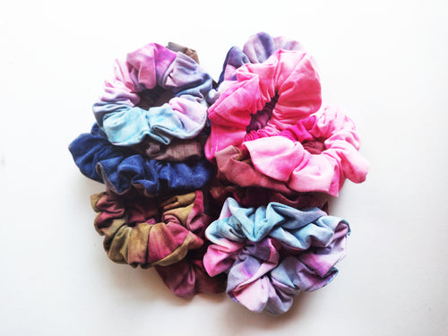 Cotton Tie Dye Scrunchies