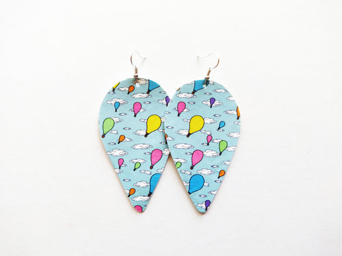Going Places Upside Down Teardrop Vegan Leather Earring