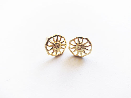 18k Gold Plated Sun Stud