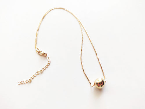 Full Moon 18k Gold Filled Necklace