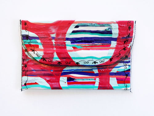 Hand Painted Tiny Clutch Bag