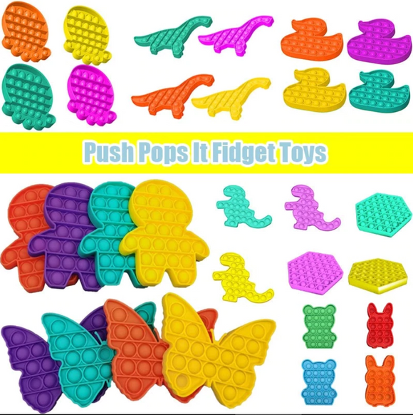 Push Pop It Bubble Fidget forma Animal, Jueguete Antiestress