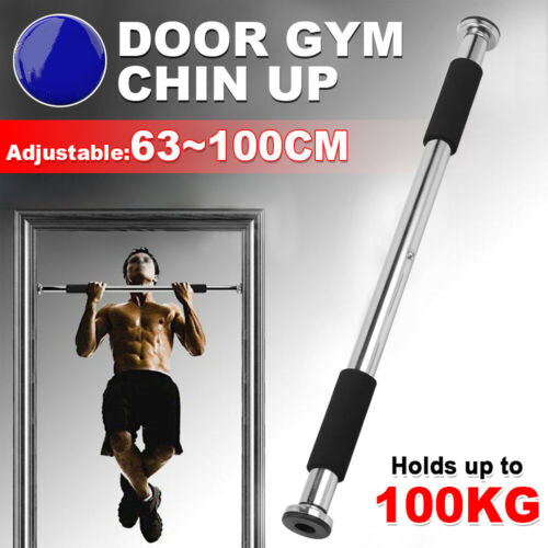 Barra Pull Up de Puerta  (ajustable 62-100cm)