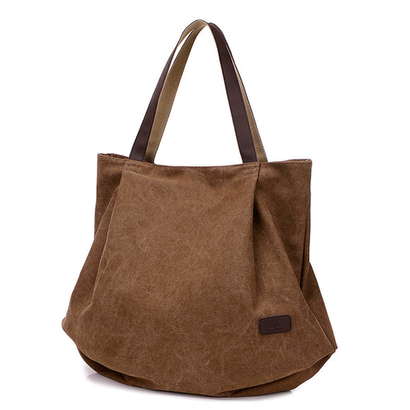 Bolso de lona de gran capacidad simple casual