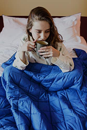 "CMFRT Weighted Blanket for Kids - | 100% Soft Breathable Cotton (41""x56"" – 7 lb) 