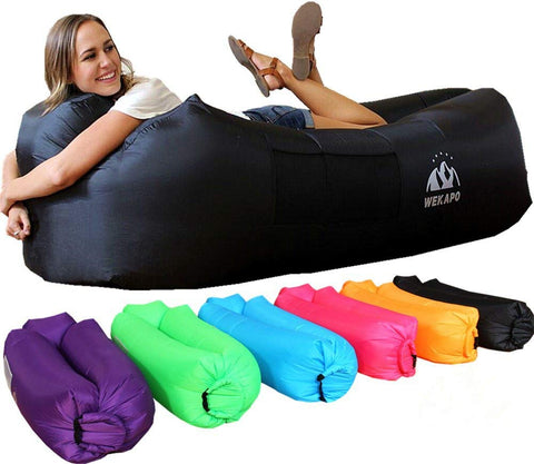WEKAPO Inflatable Lounger Air Sofa Hammock-Portable,Water Proof& Anti-Air Leaking Design-Ideal Couch for Backyard Lakeside Beach Traveling Camping Picnics & Music Festivals - beyondtrendi