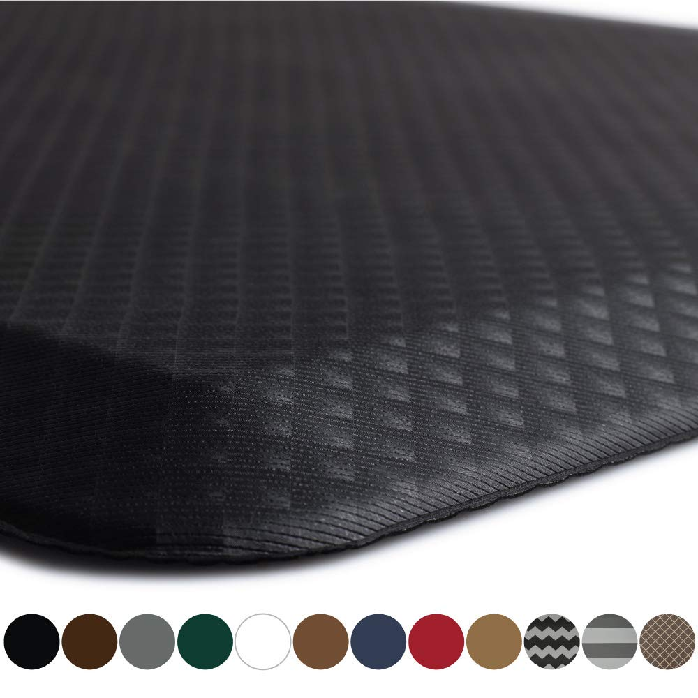 "Kangaroo Original 3/4"" Standing Mat Kitchen Rug, Anti Fatigue Comfort Flooring, Phthalate Free, Commercial Grade Pads, Waterproof, Ergonomic Floor Pad, Rugs for Office Stand Up Desk, 32x20 (Black) - beyondtrendi"
