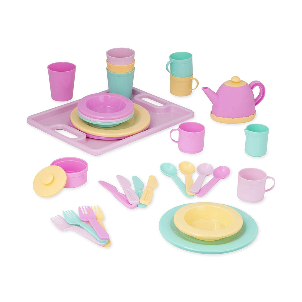 Play Circle by Battat – Dishes Wishes Dinnerware Set – 34-piece Kids Dishes and Utensils Playset – Pretend Play Kitchen Set for Kids Age 3 Years and Up - beyondtrendi
