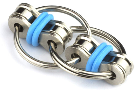 Tom's Fidgets Flippy Chain Fidget Toy Perfect for ADHD, Anxiety, and Autism - Bike Chain Fidget Stress Reducer for Adults and Kids - Blue - beyondtrendi