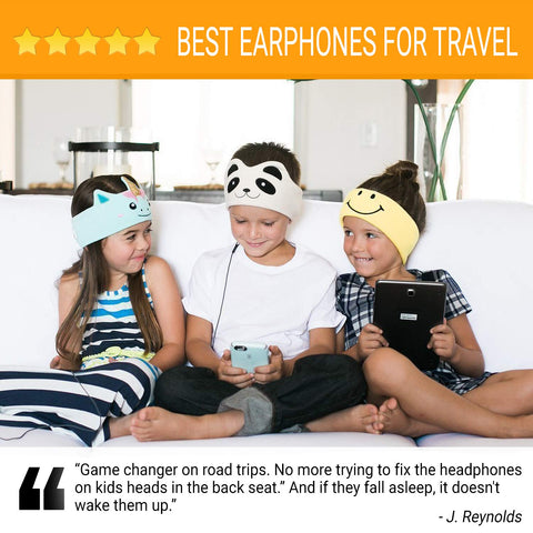 CozyPhones Kids Headphones Volume Limited with Ultra-Thin Speakers Soft Fleece Headband - Perfect Children's Earphones for School, Home and Travel - Mystic Unicorn - beyondtrendi