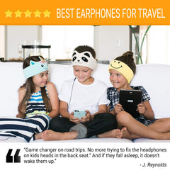 CozyPhones Kids Headphones Volume Limited with Ultra-Thin Speakers Soft Fleece Headband - Perfect Children's Earphones for School, Home and Travel - Mystic Unicorn