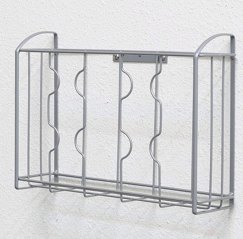 SimpleHouseware Over the Cabinet Door Organizer Holder, Silver - beyondtrendi