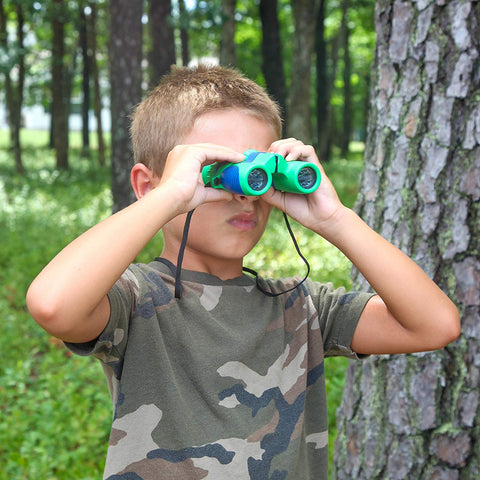 Kidwinz Shock Proof 8x21 Kids Binoculars Set High Resolution Real Optics - Bird Watching - Presents for Kids - Children Gifts - Boys and Girls - Outdoor Play - Hunting - Hiking - Camping Gear - beyondtrendi