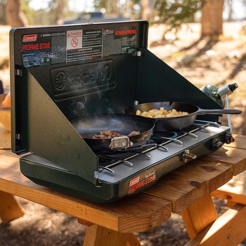 Coleman Gas Stove | Portable Propane Gas Classic Camp Stove with 2 Burners - beyondtrendi