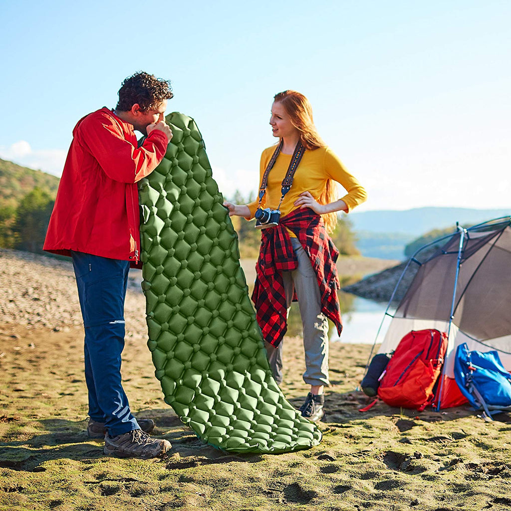 Sleepingo Camping Sleeping Pad - Mat, (Large), Ultralight 14.5 OZ, Best Sleeping Pads for Backpacking, Hiking Air Mattress - Lightweight, Inflatable & Compact, Camp Sleep Pad - beyondtrendi
