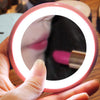 Image of HD Makeup Mirror with 12 LEDs Lights Cosmetic Mirror Mini Portable Round Travel Mirror For Women Beauty Makeup Tool - beyondtrendi