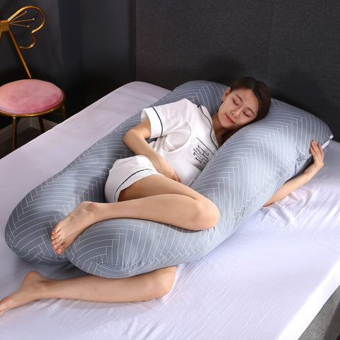 Sleeping Support Pillow For Pregnant Women Body PW12 100% Cotton - beyondtrendi