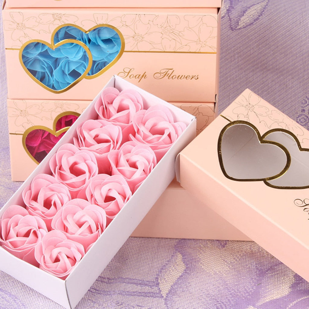 10pc Scented Rose Petal Flower Soap - beyondtrendi