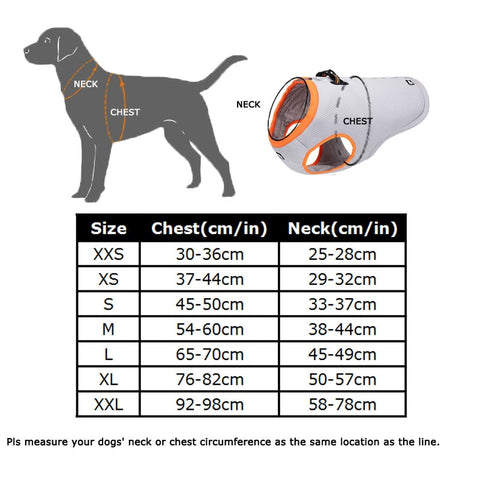 Adjustable Mesh Cooling Dog Vest with Harness - beyondtrendi