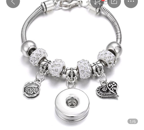 Snap Jewelry Pandora Style Snap Jewelry Bracelet Comes with a free snap of your choice.
