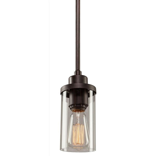 Artcraft Melno Park 1 Light Pendant, Dark Chocolate