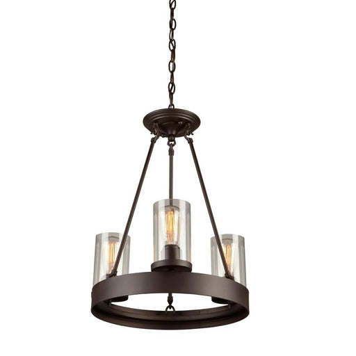 Artcraft Melno Park Chandelier, Dark Chocolate