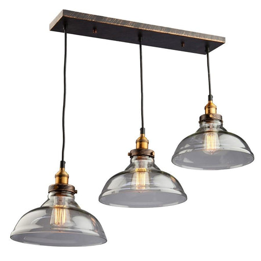 Artcraft Greenwich 3 Light Pendant, Bronze and Copper