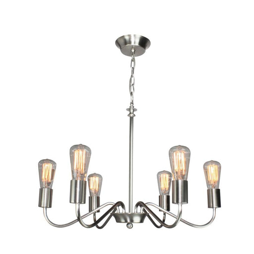 Artcraft Jasper Park 6 Light Chandelier, Brushed Nickel