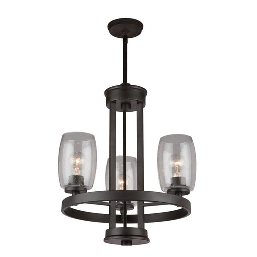 Artcraft San Antonio 3 Light Chandelier, Java Brown