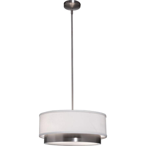 Artcraft Scandia 2 Light Chandelier, Brushed Nickel