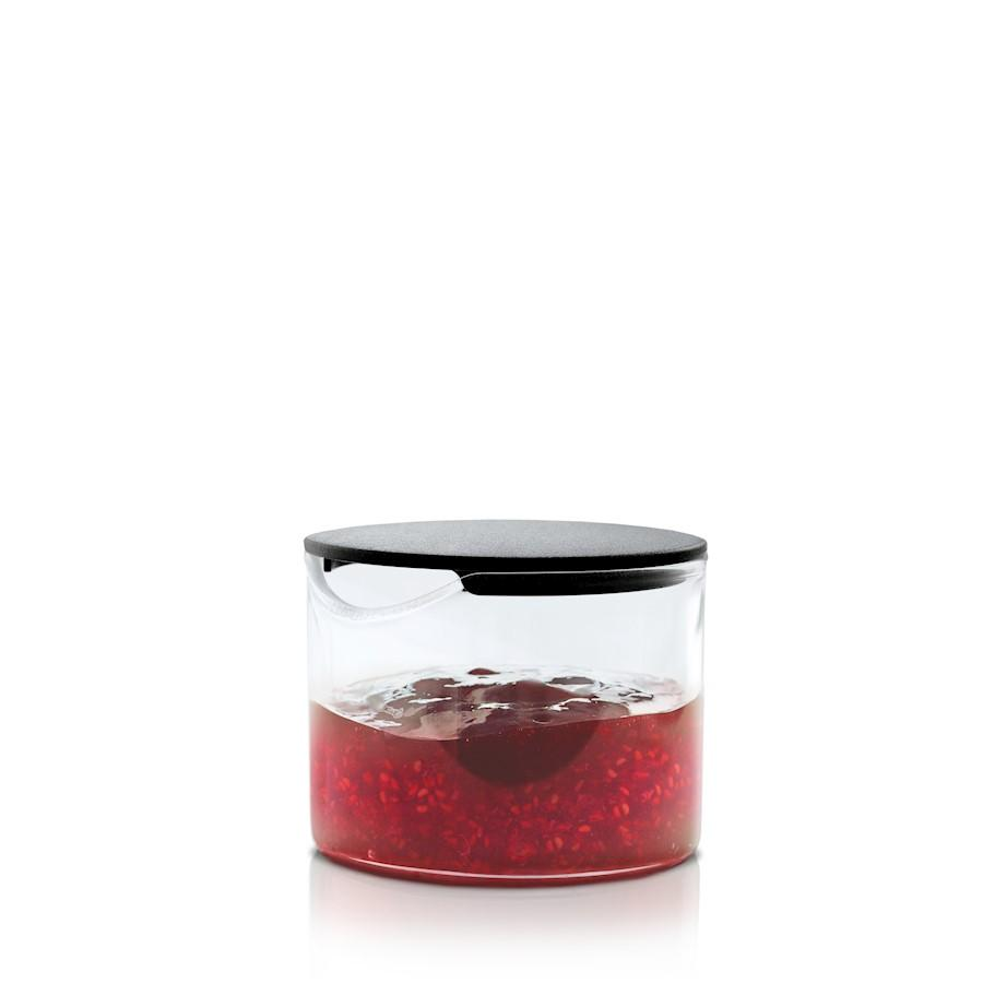 Blomus Basic Condiment Glass With Black Lid - 63627